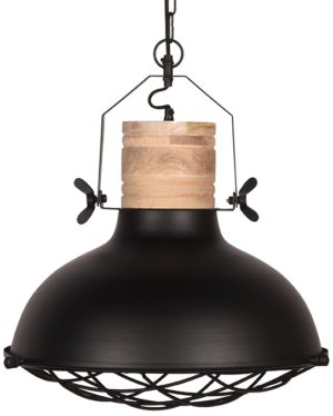 LABEL51 Hanglamp Grid - Zwart - Metaal - 52 cm Zwart Hocker