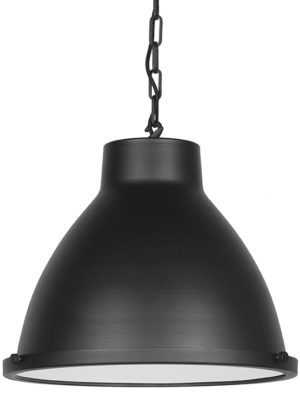 LABEL51 Hanglamp Industry - Zwart - Metaal Zwart Hocker