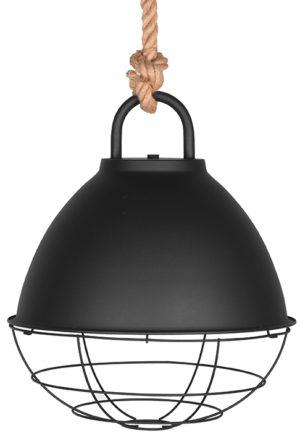 LABEL51 Hanglamp Korf - Zwart - Metaal - L Zwart Hocker