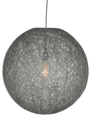 LABEL51 Hanglamp Twist - Grijs - Vlas - 55 cm Grijs Hocker