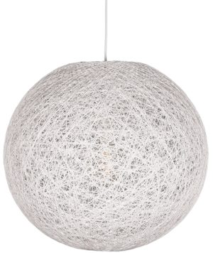 LABEL51 Hanglamp Twist - Wit - Vlas - XL Wit Hocker