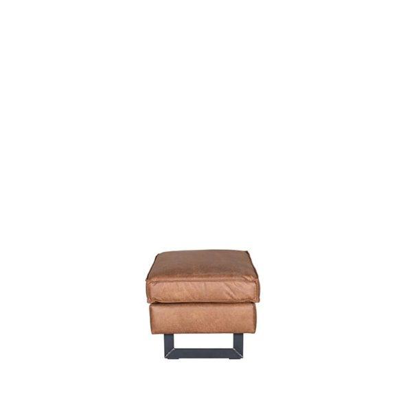 LABEL51 Hocker Arezzo - Cognac - Microfiber Cognac Hoekbank