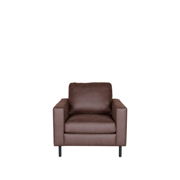 LABEL51 Hocker Genua - Bruin - Microfiber Bruin Hoekbank