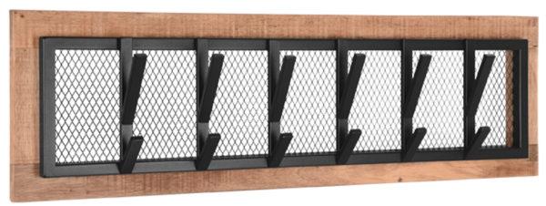 LABEL51 Kapstok Crude - Zwart - Mangohout - XL Zwart Woonaccessoire|Woningdecoratie