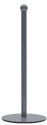 LABEL51 Keukenrolhouder - Grijs - Metaal Grijs Krukje