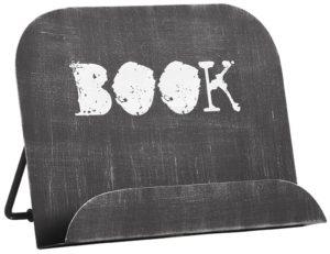 LABEL51 Kookboekstandaard - Zwart - Metaal Zwart Krukje