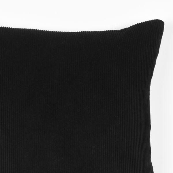 LABEL51 Rib - Zwart - Katoen Zwart Woondecoratie