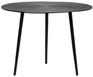 LABEL51 Salontafel Nobby - Zwart - Metaal - 60 cm Zwart Bijzettafel
