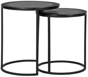 LABEL51 Salontafel Pair - Zwart - Metaal - 40 cm Zwart Bijzettafel