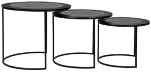 LABEL51 Salontafel Tres - Zwart - Metaal Zwart Bijzettafel