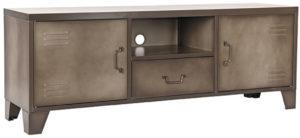 LABEL51 Tv-meubel Fence - Grijs - Metaal Grijs Vitrinekast