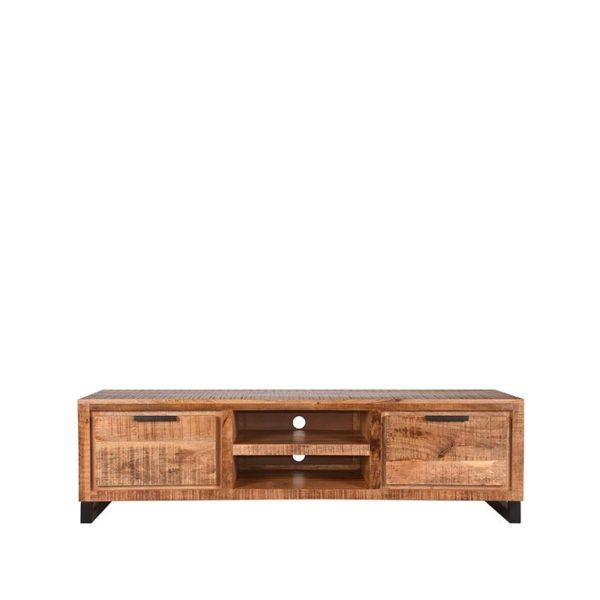 LABEL51 Tv-meubel Glasgow - Rough - Mangohout - 160 cm Rough Vitrinekast
