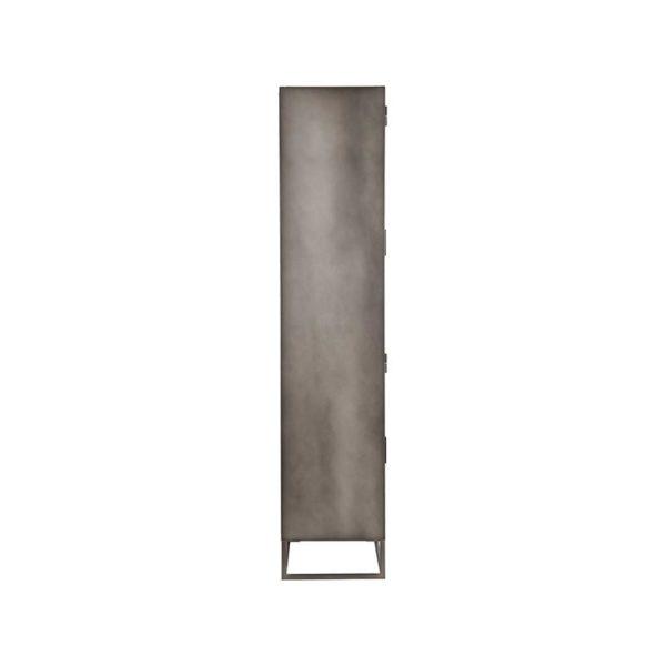 LABEL51 Vitrinekast Level - Grijs - Metaal - 80x40x190 cm Grijs Vloerkleed