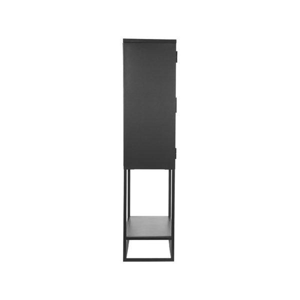 LABEL51 Vitrinekast Level - Zwart - Metaal - 70x35x150 cm Zwart Vloerkleed