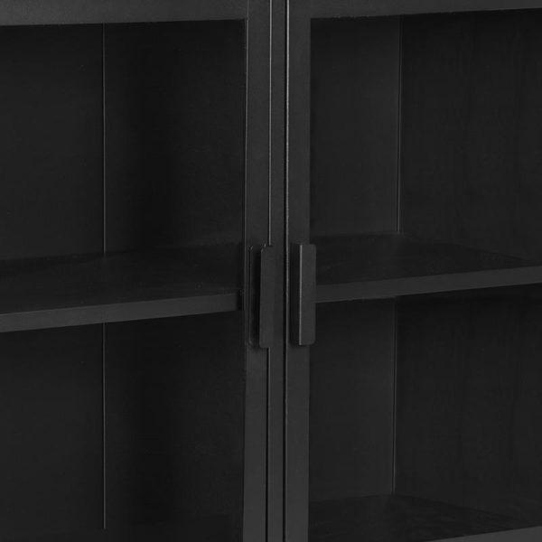 LABEL51 Vitrinekast Level - Zwart - Metaal - 85x40x85 cm Zwart Vloerkleed