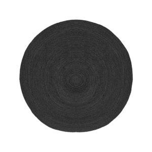 LABEL51 Vloerkleed Jute - Zwart - Jute - 150 Zwart Vloerlamp