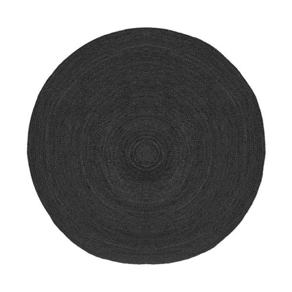 LABEL51 Vloerkleed Jute - Zwart - Jute - 180 Zwart Vloerlamp