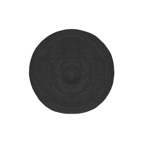 LABEL51 Vloerkleed Jute - Zwart - Jute - 90 cm Zwart Vloerlamp