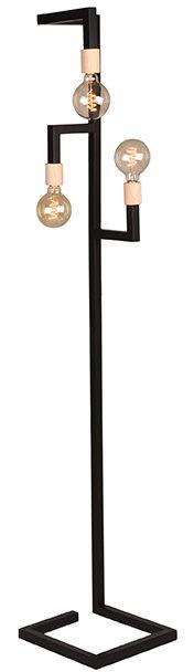 LABEL51 Vloerlamp Loco - Zwart - Metaal Zwart Wanddecoratie