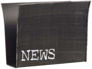 LABEL51 Wanddecoratie Magazinehouder - Zwart - Metaal Zwart Woonaccessoire Woningdecoratie