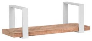 LABEL51 Wanddecoratie Slam Wandplank - Wit - Mangohout - M Wit Woonaccessoire|Woningdecoratie