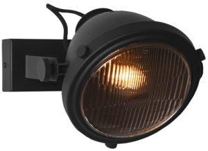 LABEL51 Wandlamp Tuk-Tuk - Zwart - Metaal Zwart Wandplank