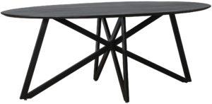 Livingfurn Eettafel Oslo Black Acasia Web Leg 200cm  Eettafel