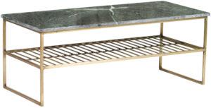 Livingfurn Salontafel Dian Marble Green Gold 90cm  Salontafel
