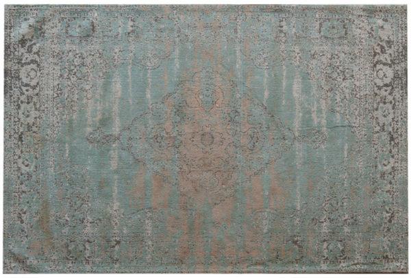 Livingfurn Vloerkleed Brix Kelly Aqua 200x290 cm  Vloerkleed