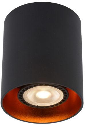 Bido plafondspot - zwart Lucide Plafondspot 22965/01/30