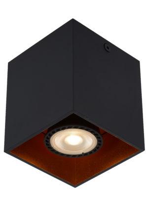Bido plafondspot - zwart Lucide Plafondspot 22966/01/30