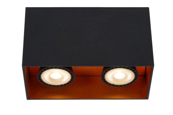 Bido plafondspot - zwart Lucide Plafondspot 22966/02/30