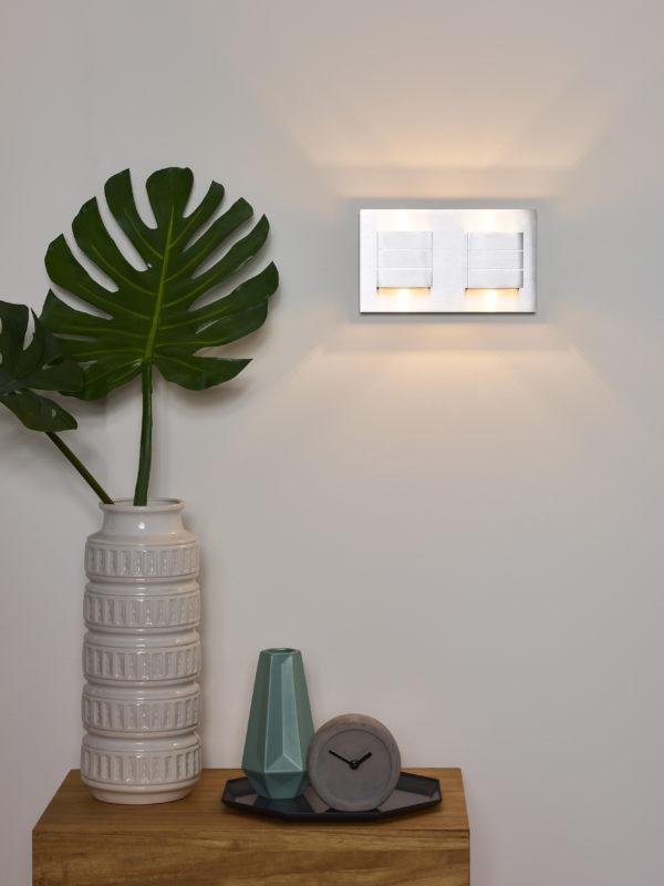 Bok wandlamp - mat chroom Lucide Wandlamp 17282/02/12