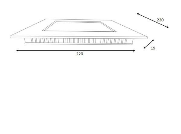 Brice-led inbouwspot - wit Lucide Plafondspot 28907/22/31