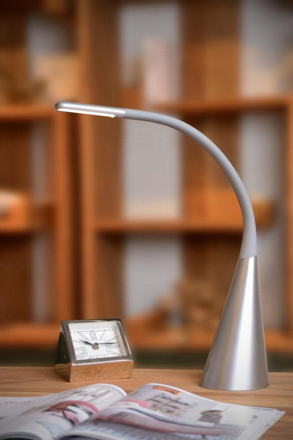 Goosy Led bureaulamp - grijs Lucide Bureaulamp 18655/04/36