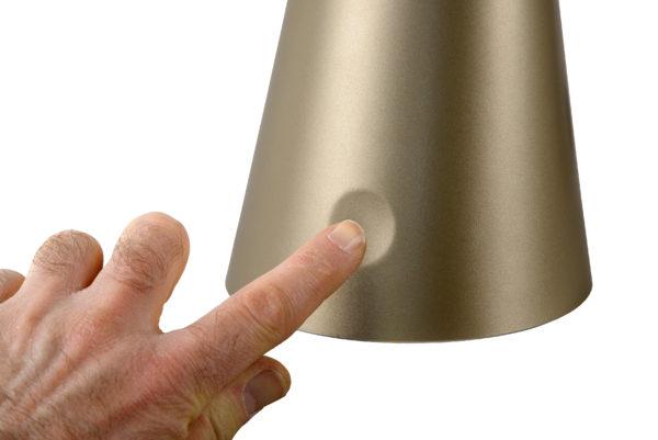 Goosy Led bureaulamp - mat goud / messing Lucide Bureaulamp 18655/04/02