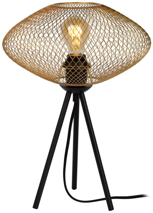 Mesh tafellamp - zwart Lucide Tafellamp 21523/01/02