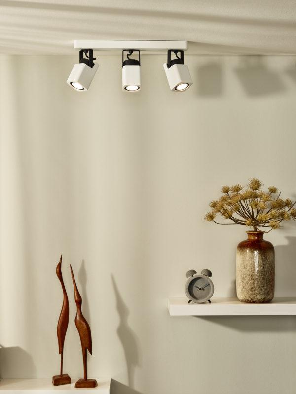 Roax plafondspot - zwart Lucide Plafondspot 33961/15/31