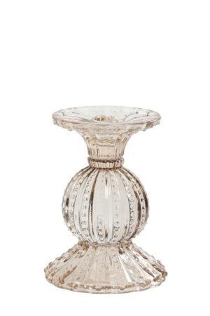 Pronto Wonen Kandelaar Valado glas licht goud  Woonaccessoire
