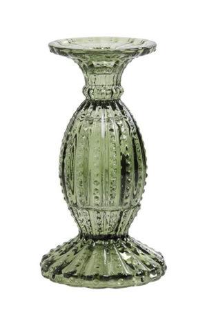Pronto Wonen Kandelaar Valado glas olijf groen  Woonaccessoire