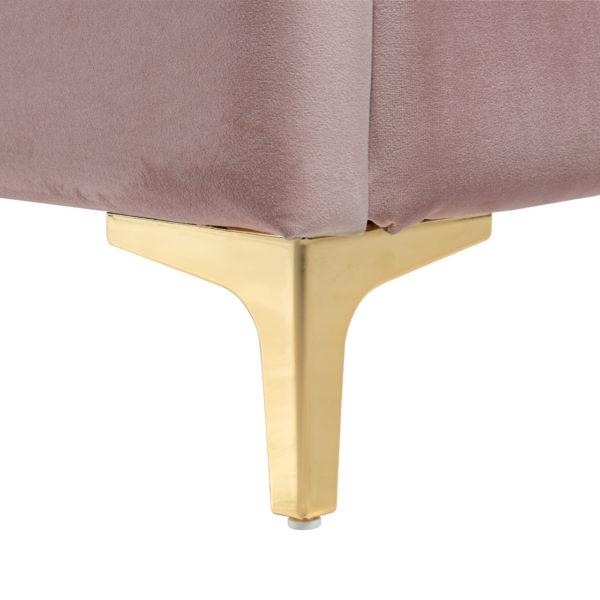Richmond Interiors Bed Belmond 180x200 excl. matras (Quartz Pink 700) Quartz Pink 700 Bed