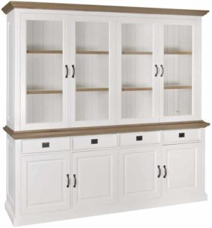Richmond Interiors Buffetkast oakdale 2x4-deurs 4-laden (Ral 9010) Ral 9010 Buffetkast