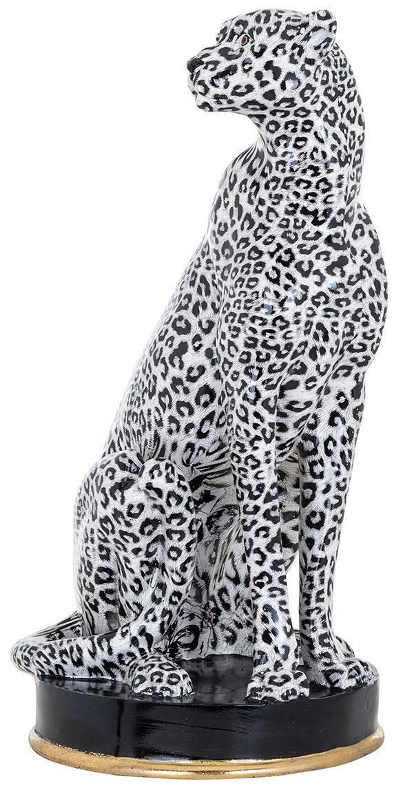 Richmond Interiors Cheetah deco object (White) White Woonaccessoire