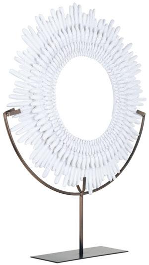 Richmond Interiors Decoratieve standaard Anthelia white (Wit) Wit Woonaccessoire