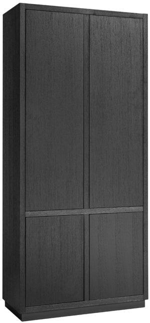 Richmond Interiors Dichte kast Oakura 2x2-deuren (Zwart) Zwart Linnenkast