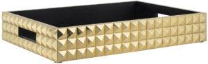Richmond Interiors Dienblad Carrell goud (Goud) Goud Woonaccessoire