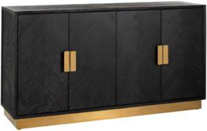 Richmond Interiors Dressoir Blackbone gold 4-deuren (Goud) Goud Dressoir