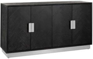 Richmond Interiors Dressoir Blackbone silver 4-deuren (Zilver) Zilver Dressoir