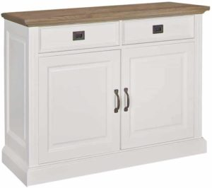 Richmond Interiors Dressoir Oakdale 2-deuren 2-laden (Ral 9010) Ral 9010 Dressoir