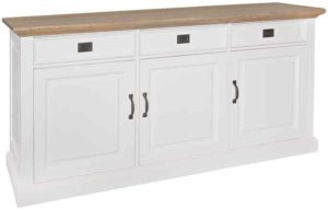 Richmond Interiors Dressoir Oakdale 3-deuren 3-laden (Ral 9010) Ral 9010 Dressoir
